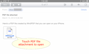 iPad PDF email attachment