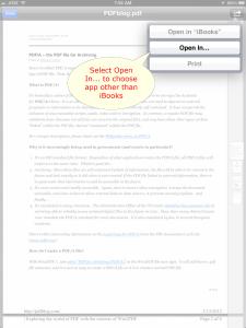 Open PDF on iPad
