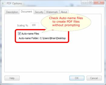 Auto-name Files in Win2PDF 7.5