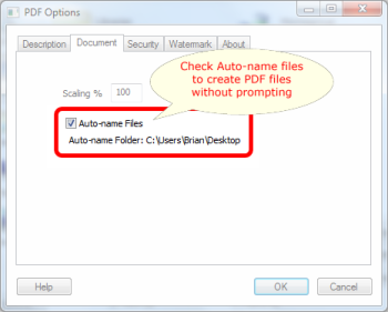 Auto-name Files in Win2PDF 7.5