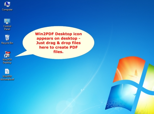 Win2pdf desktop