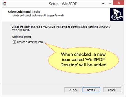 Win2PDF Desktop App Setup
