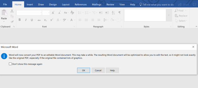 Converting a PDF file to a Word document using Microsoft Word | PDF