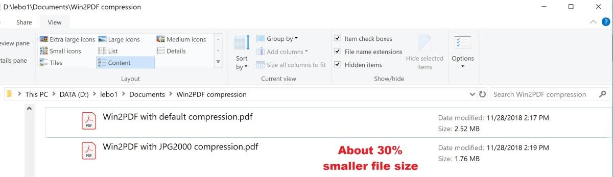 JPG2000 file sizes